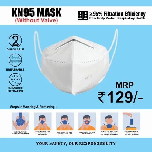 KN 95 Mask (Without Valve)