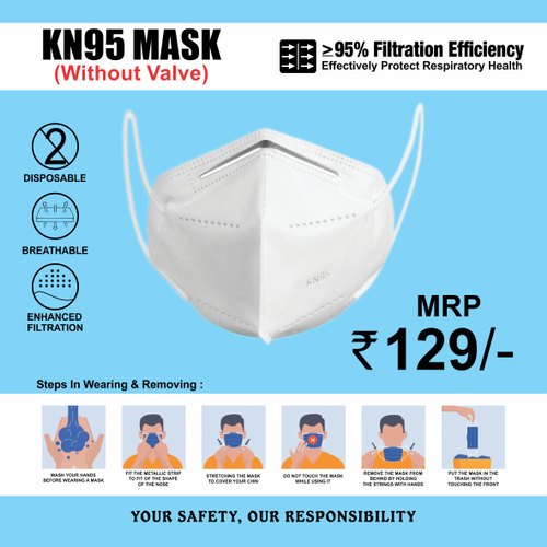 KN 95 Mask (Without Valve)
