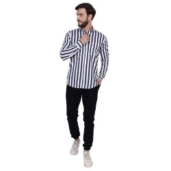 FNX Casual Wear Lining / Striped Shirt, Size: M