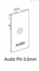 White 3.5 mm Audio Modular Socket for Office