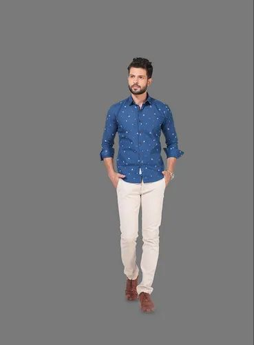 8377938c Blue M, X Chiver Rodid Men's Solid Casual Spread Shirt, Rs 1200 ...