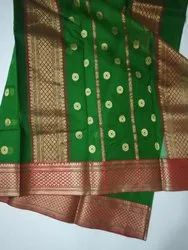 6.5 meter Fancy Chanderi Saree, With Blouse Piece, Packaging Type: Box