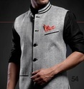Jute Casual Mens Designer Waistcoat