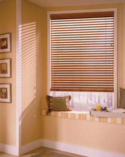 Brown Wooden Horizontal Blinds