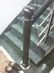 Wooden  With Steel Railing
