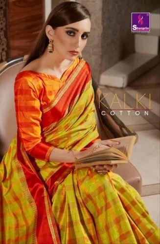 Shangrila Kalki Cotton Traditionnal Fancy Saree Catalog Collection at Textile Mall