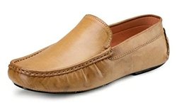 Brown Mens Driving Shoes