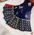 Cotton Jacquard Saree Bengali Work Embroidery