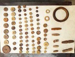 Brown Wooden Button