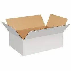 White,Brown Rectangular White Duplex Corrugated Packaging Box, Ply: 5, Size: 300 X 300 X 260 Mm