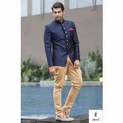 Wedding Mens Plain Jodhpuri Suit, Size: 34-46