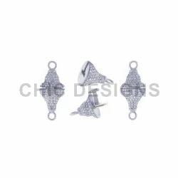 Diamond Designer Connector Bead