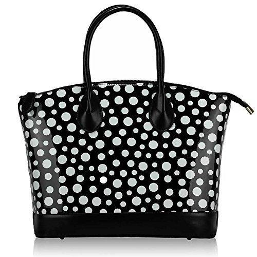 Jute Polka Dot Printed Ladies Bags