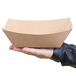 Brown Paper Food Tray