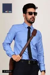 Solid Blue Corporate Uniform Shirts S-445912
