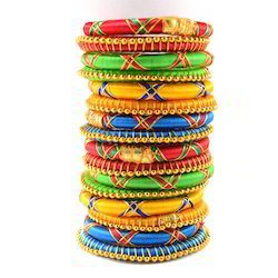 Indian Handcraft Ethnic Style Party Wear Silk Thread Bangle