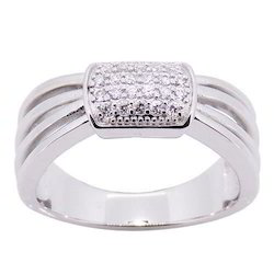 Round Silver Ladies Finger Ring