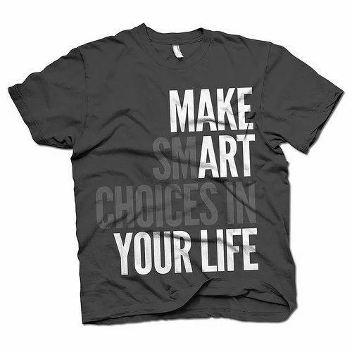 25ec88bd1e Black Casual Printed T Shirt at Rs 200 /piece | प्रिंटेड ...