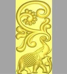 Elephant 3D Design, Elephant Design for CNC Engraving, 3D Design Services