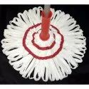 Sara White Cotton Twist Mop, For Floor Cleaning