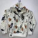 Printed Linen Kids Party Wear Hooded Jacket