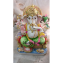 Multicolor Marble God Ganesh Statue