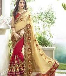Red Gold Saree