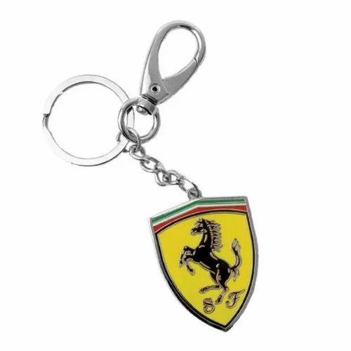 Ferrari Metal Shield Keychain at Rs 50  piece  a23fc3c5e6