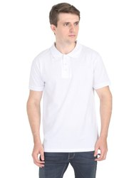 Plain Polo White Collar Neck T Shirts