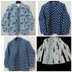 Multicolor Indigo Hand Block Printed Cotton Jackets