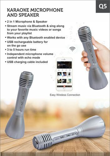 Q5 Karaoke Mic With Speaker