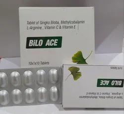 Ginkgo Biloba 60 mg Mecobalamin 750 mcg Arginine 10 mg Vit A C E