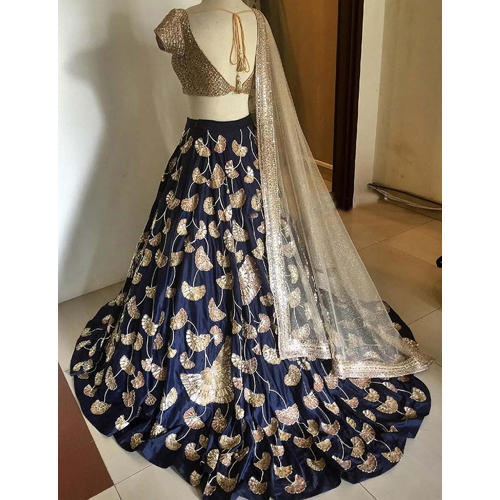 b61c355384 Bollywood Designer Aces Blue Tapeta Silk Georgette Lehenga Choli ...