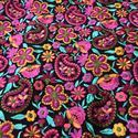 Paisley Flower Embroidered Fabric
