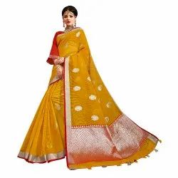 Exclusive Designer Kota Doria Weaving Saree,0.5mtr
