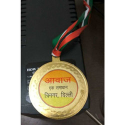 Gold Plated Medal