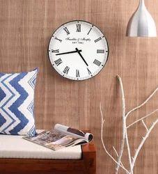 Aluminum Large Vintage Roman Chrome Round Wall Clock
