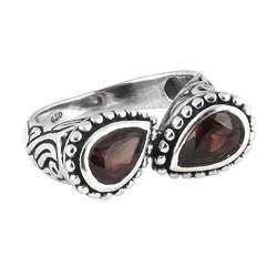 Garnet 925 Sterling Silver Rings