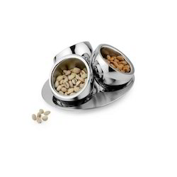 Stainless Steel Desert Bowls with Stand