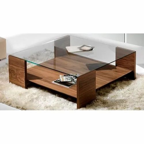 Eazy Fab Wooden Glass Modern Coffee Table For Home Rs 8000 Piece Id 20958745833