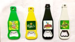 Green, Yellow & Black Bottle Shape Opener With Digital Print