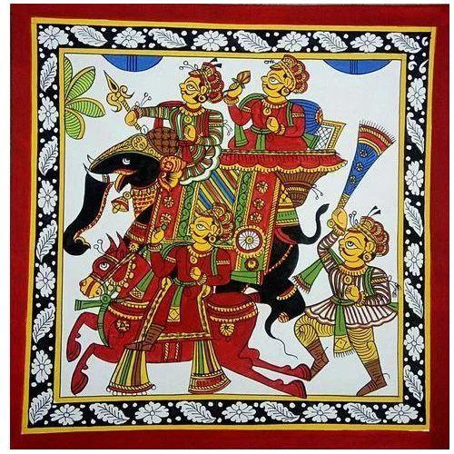Traditional Phad Painting, पैड पेंटिंग, फड़ पेंटिंग, फड़ चित्रकारी -  Shrinath Arts, Bhilwara | ID: 14190290997