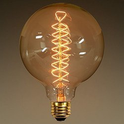 Glitz Round Tungsten Filament Lamp, 60 W