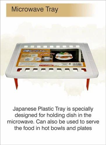 Plastic Plain Microwave Tray Foldable Food Warming