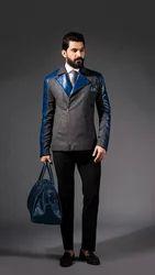 Biker Jacket Midnight Leather Blue Leather Bag