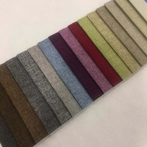Multicolor Plain Cotton Sofa Fabric