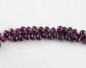 Garnet Faceted Side Drilled Tear Drops Shape Beads