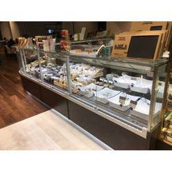 Glass Display Pastry Counter