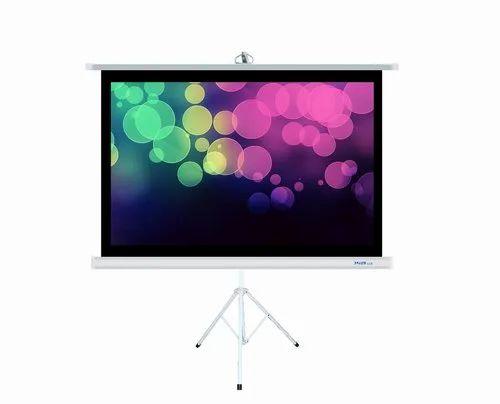 Suvira Projection Screen Tripod 100 Diagonal Matte White Fabric 4 3 Ratio At Rs 4999 Piece ट र यप ड स ट ड Suvira International I Regd Ambala Id 20504113155