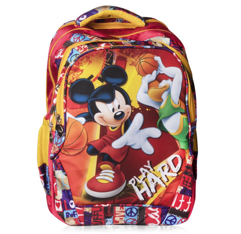 3b5849cddb7 Disney Polyester School Bag Play Hard Alphabets-Red 29 Ltrs. at Rs ...